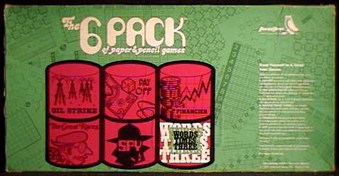 THE 6 PACK OF PAPER & PENCIL GAMES - Gamut of Games 1974