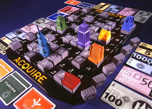 The new Hasbro / Avalon Hill ACQUIRE.  Click on the photo to order it from Funagain!