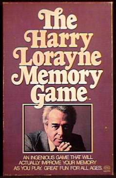 THE HARRY LORAYNE MEMORY GAME - Reiss 1976