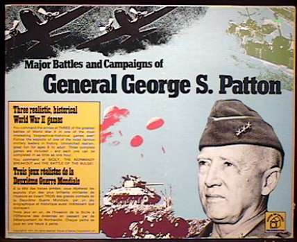 THE MAJOR BATTLES AND CAMPAIGNS OF GENERAL GEORGE S. PATTON - House of Games/Waddington 1974